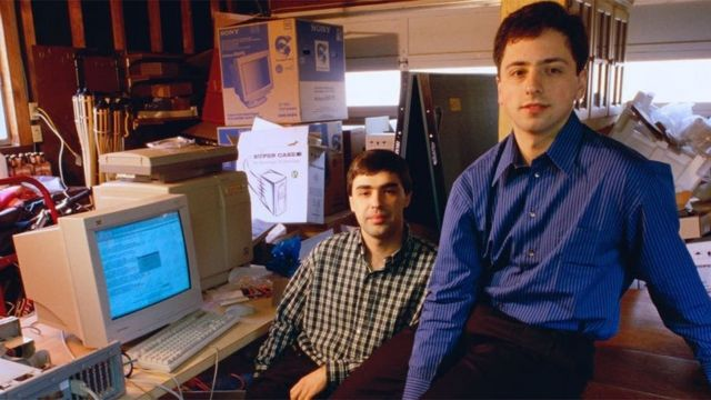 Larry Page y Sergey Brin crearon Google en un garaje en 1998