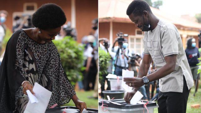 Uganda Election Day 2021: Bobi Wine, wife Barbara Itungo Kyagulanyi
