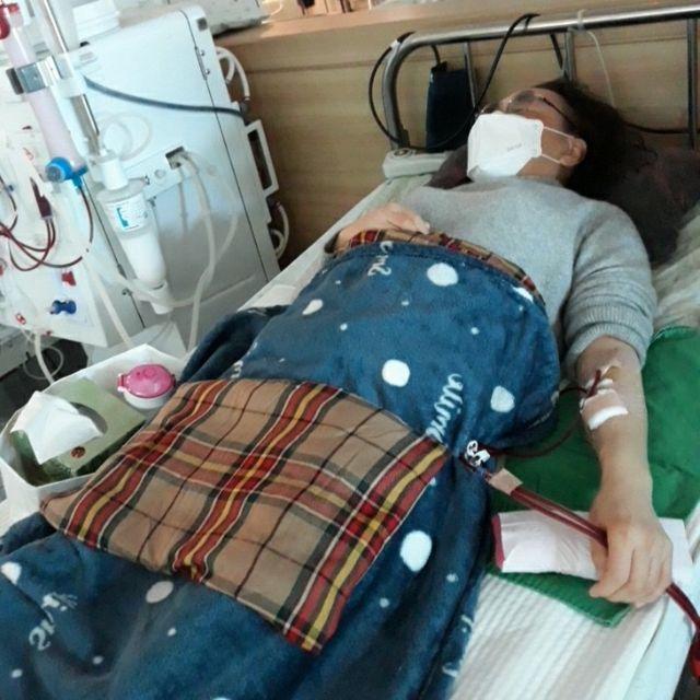 """일주일에 3번 투석을 받는 김수경 씨는 """"쉽게 백신 접종을 받고 싶다""""고 했다"""