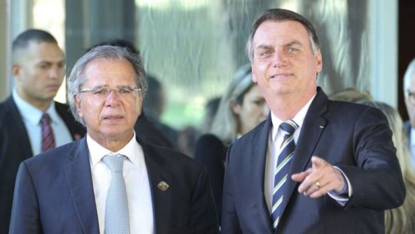 Minister of Economy, Paulo Guedes, and President Jair Bolsonaro
