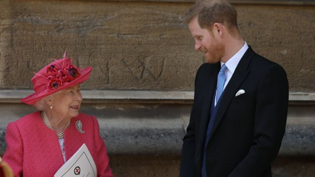 Prince Harry and his grandmother Queen Elizabeth