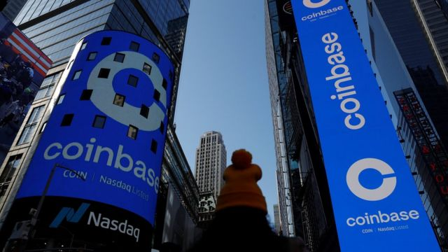 El logo for Coinbase Global Inc