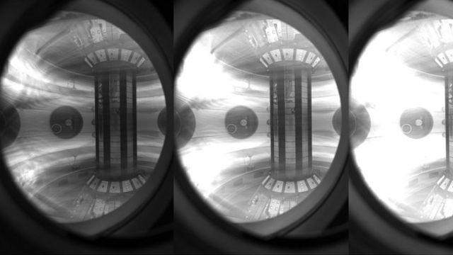 Plasma capturado em um campo magnético