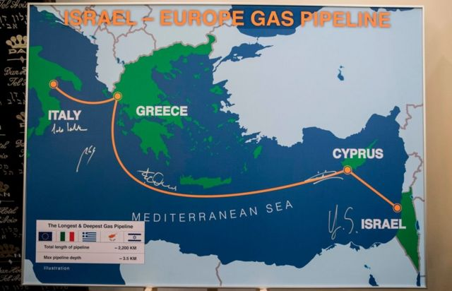 Gas pipeline from Israel to the European continent