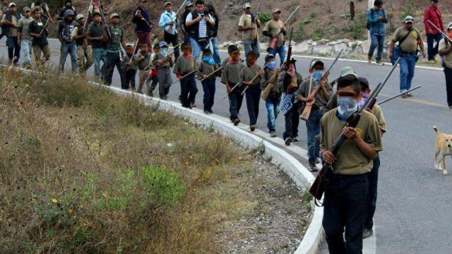 Niños son autodefensa: una realidad en México