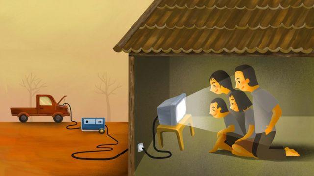 Televizyonlara aküyle enerji sağlanması gerekebiliyor