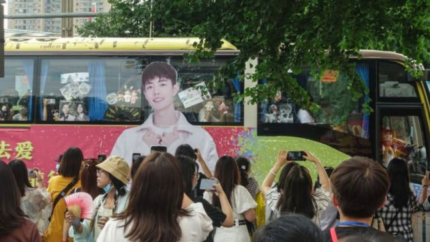 Fans rented cars for parades and bought huge bouquets of flowers to celebrate their idol's success.