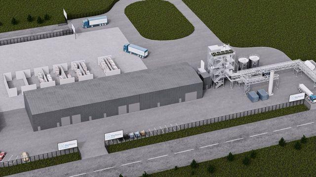 Projeto da usina que está sendo construída em Teesside, no Reino Unido