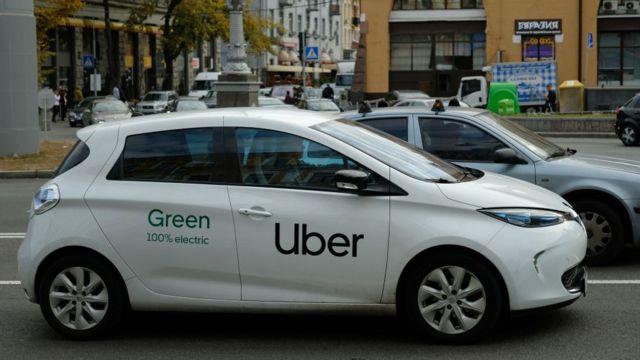 Auto de Uber en Kiev.