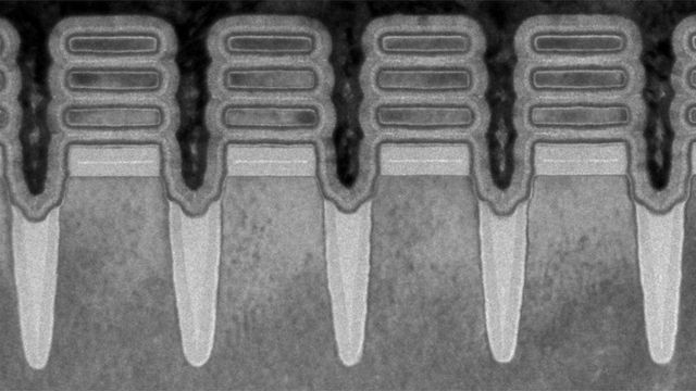 Enlarged image of the transistor