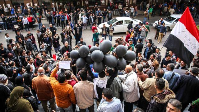 احتفالات بثورة 25 يناير