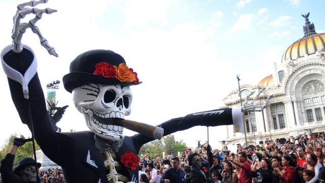 Parade for the Day of the Dead in Mexico City.