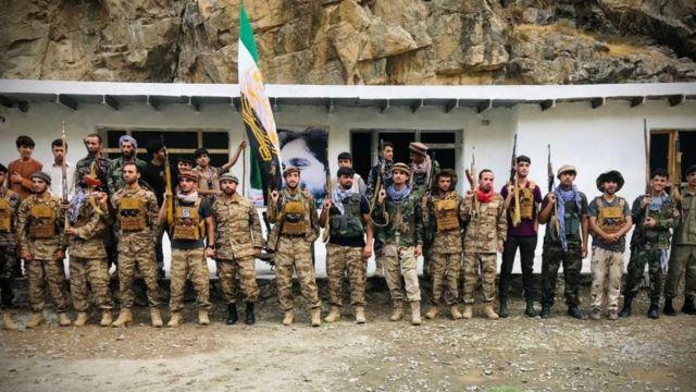Fighters in Panjshir
