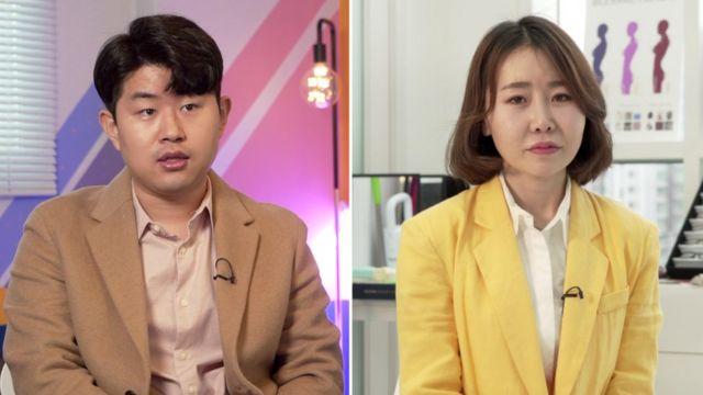 Kim Geum-hyok (solda) ve Yoon Mi-so (sağda) artık Kuzey Kore'de yaşamıyor