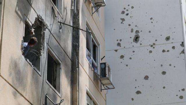 11일 오전 이스라엘 남부 도시 애쉬켈론을 향해 로켓포 공격이 있었다
