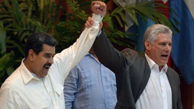 Maduro y Díaz Canel