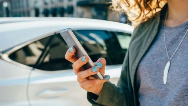 Large numbers of Londoners use Uber