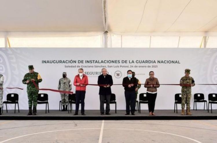 López Obrador en un acto en San Luis Potosí