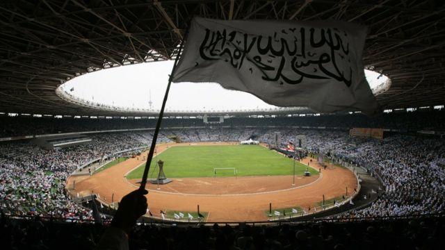 Hizb-ut Tahrir'in 2007 yılında Endonezya'nın başkenti Cakarta'daki bir stayumda düzenlediği etkinlik.