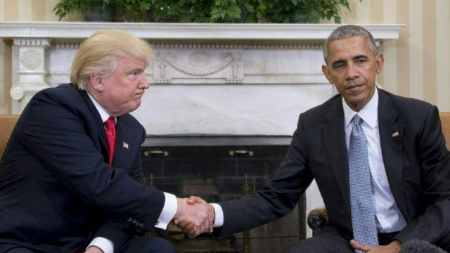Trump y Obama en 2016