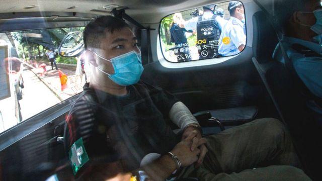 唐英杰乘车到法庭应讯(6/7/2020)