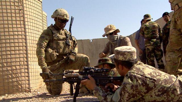 American soldiers in Afghanistan in 2016