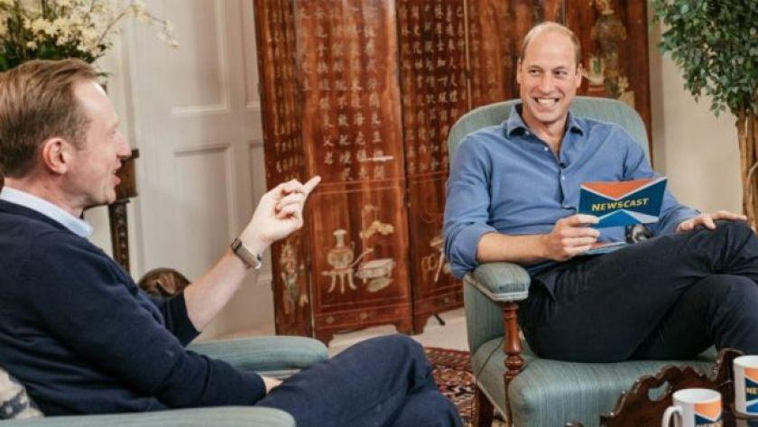 Adam Fleming talking to Prince William