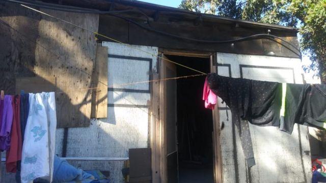 La casa donde vive Cristal.