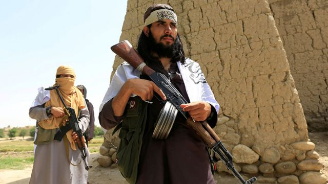Taliban fighters in 2018