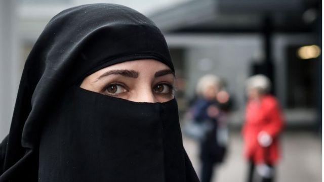 امرأة ترتدي النقاب، في 3 أكتوبر/تشرين أول 2018