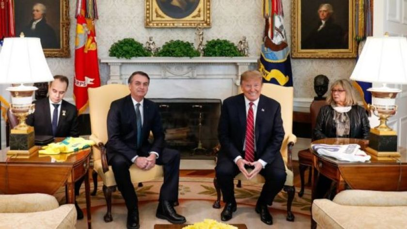 Bolsonaro and Trump at the White House