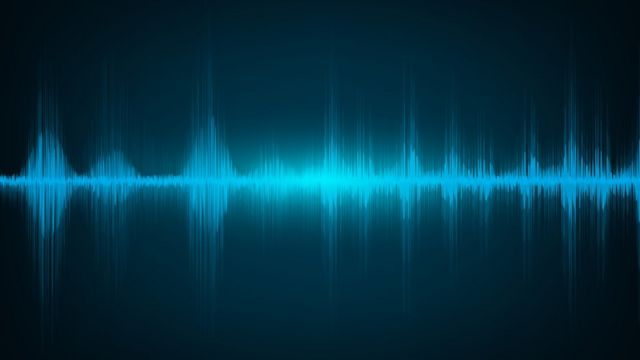 Sound waves from an audio recording