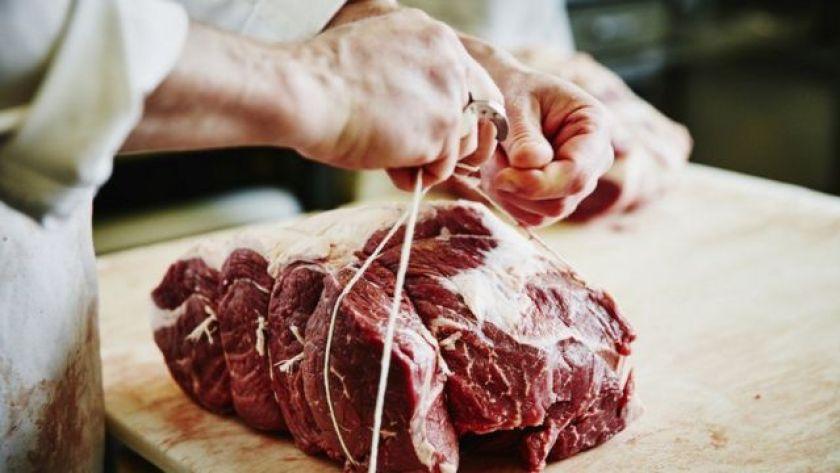 Raw meat on board