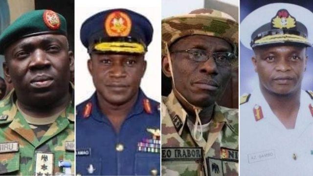 Buhari Service Chiefs: Nigerian new Service Chiefs profile of Lucky Irabor,  Ibrahim Attahiru, Ishiaka Amao, Awwal Gambo - BBC News Pidgin