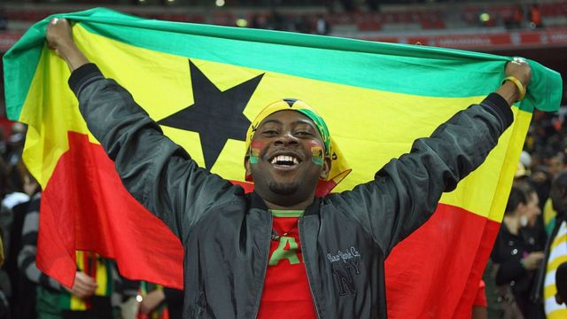 """Happy Independence Day Ghana 2021"": Ghana flag"