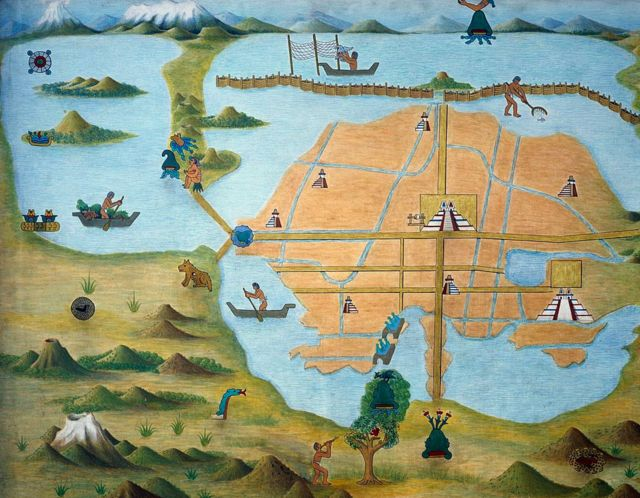 Mapa de Tenochtitlan