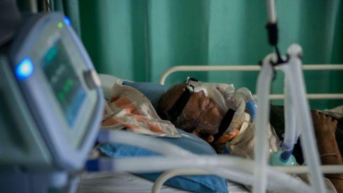 Inside an intensive care unit in New Delhi