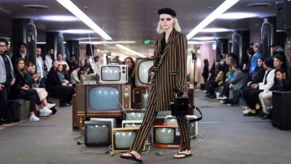 Uma modelo na Melbourne Fashion Week, na Austrália, em setembro de 2018