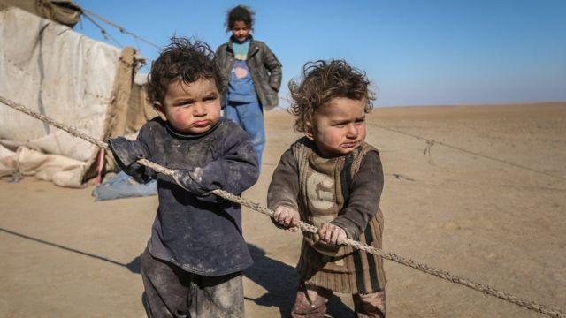 Refugee children from Syria.