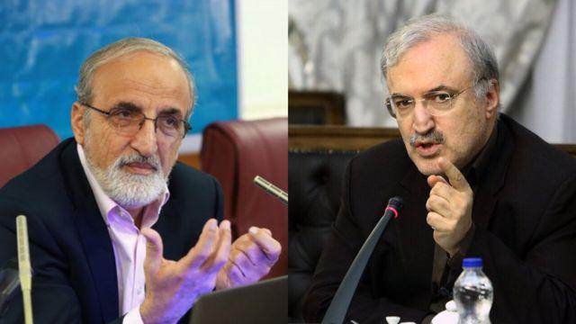 از راست سعید نمکی (عکس ایرنا) و رضا ملک زاده (عکس ایسنا)