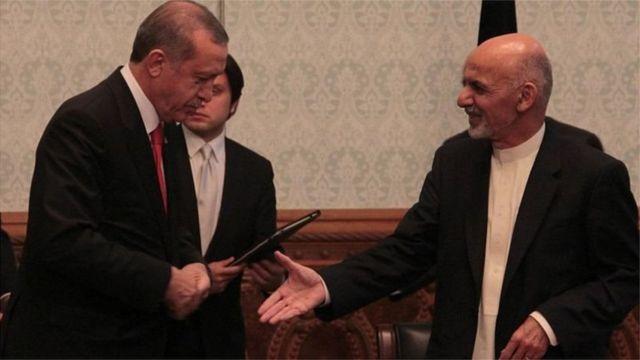 افغان صدر اشرف غنی اور ترکی کے صدر اردوغان