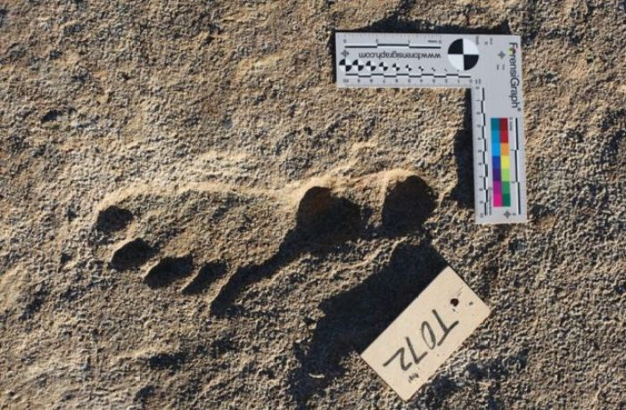 Footprint at White Sands