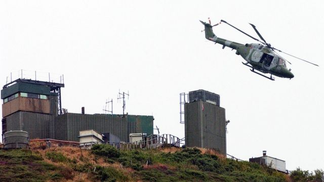Britain demolished the last military watchtower in 2006.