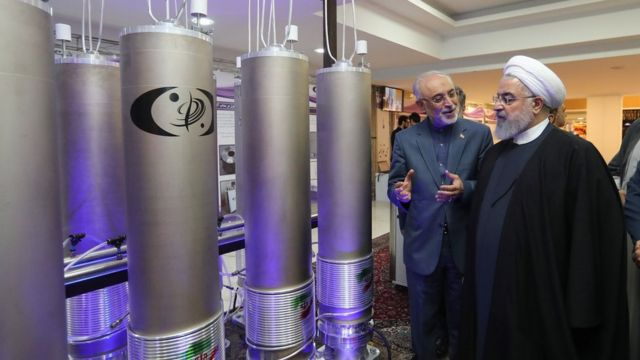 The Iranian President is visiting a nuclear facility