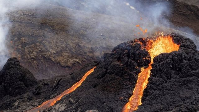 Lava in Iceland March 20