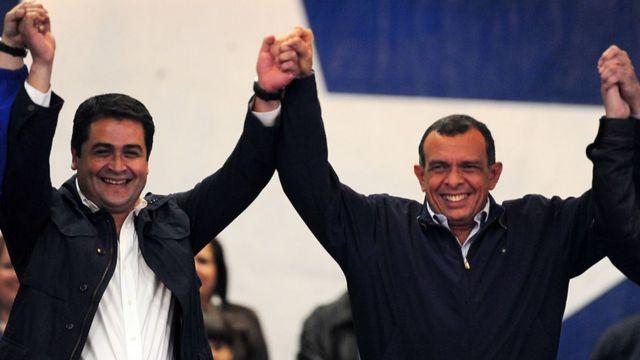 Juan Orlando Hernández y Porfirio Lobo.