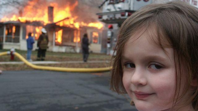 Disaster girl image