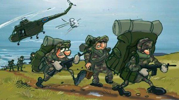 Veteran Will Kevans's cartoon story of Falklands war - BBC ...