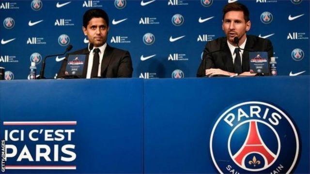 Messi for di press conference