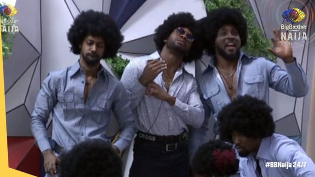 BBNaija Liquorose and Emmanuel kiss, Jackie B, Michael mata plus oda  highlights of di Saturday night party - BBC News Pidgin